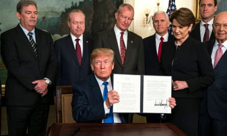 Donald Trump takes aim at what the White House termed 'China's economic aggression' in March with a series of tariffs directed at the country, thereby greatly increasing concern over a possible all-out global trade war.