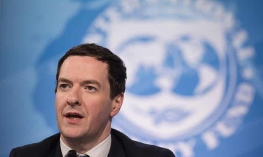 Chancellor of the exchequer George Osborne at the 2016 IMF spring meeting