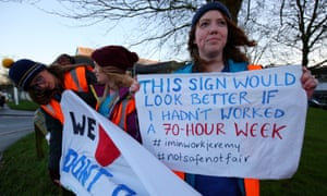 Junior doctors on the picket line outside Maidstone hospital in Kent.