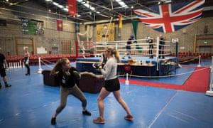 Recruits boxing
