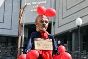 Kyiv, Ukraine A bust of former Soviet leader Vladimir Lenin