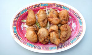 Wong Kei's deep-fried oysters.