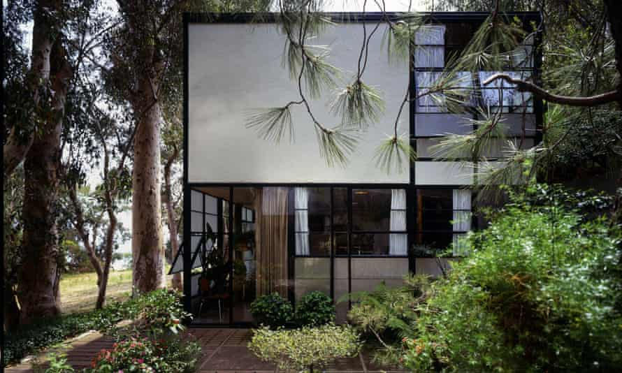 Eames House courtyard, part of The World of Charles and Ray Eames.
