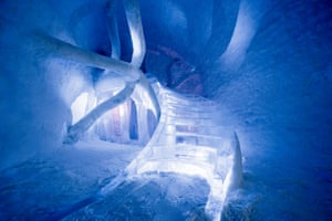 Haw and Bhatt's Dreamscape suite in the ice hotel