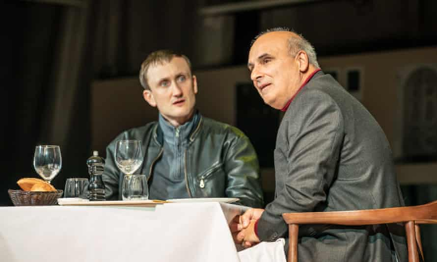 Tom Brooke, left, as Alexander Litvinenko with Peter Polycarpou as Boris Berezovsky in A Very Expensive Poison.