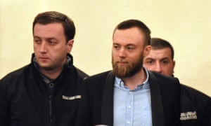 Jack Shepherd (centre) is to be sent back to Britain after agreeing extradition from Georgia.