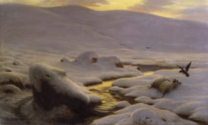 The Weary Waste of Snow (c1898) by Joseph Farquharson (1846–1935).