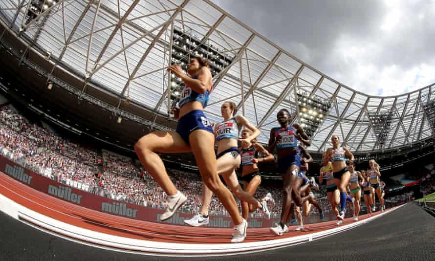 The women's 1500m under way on day one of the IAAF London Diamond League meeting at the London Stadium in 2019.
