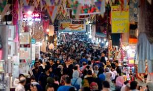 Shoppers in Tehran's Grand Bazaar