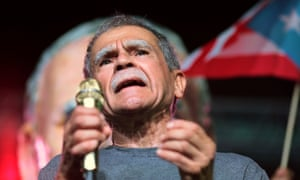 Oscar Lopez Rivera attends a rally in his honor in San Juan, Puerto Rico, last month.