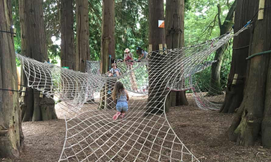 Clamber nets in the woods, River Dart country park