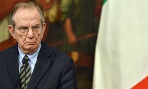 Italy's finance minister, Pier Carlo Padoan