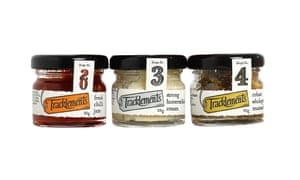 Mini jar condiments by Tracklements