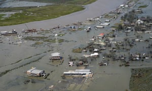 Cameron, on the Louisiana coast, where the hurricane made landfall last night.