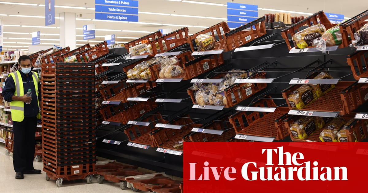 UK's supply chain crisis hits business growth and consumer confidence – business live