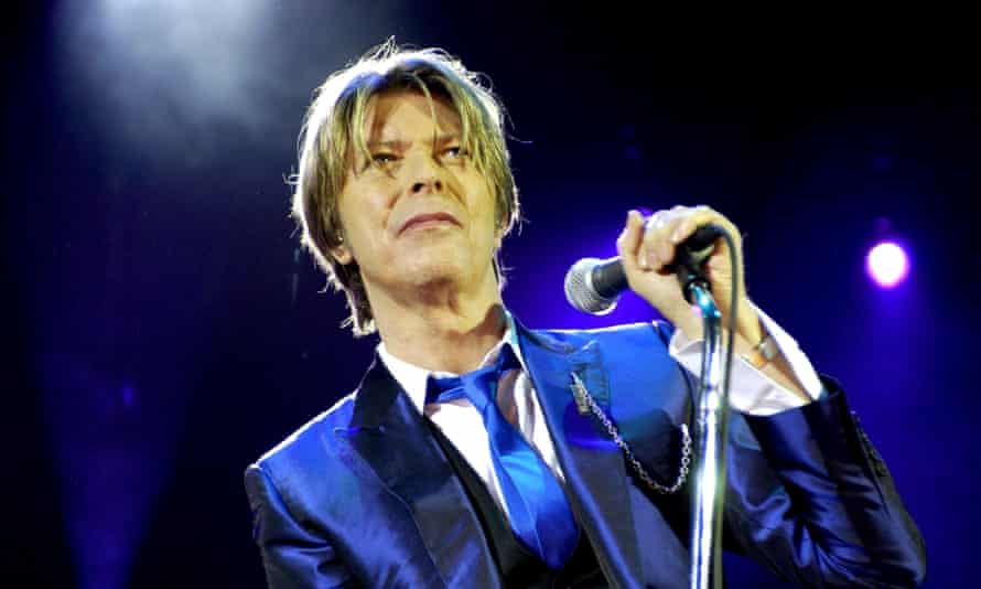 David Bowie performing at the Hammermith Apollo in London in 2003.