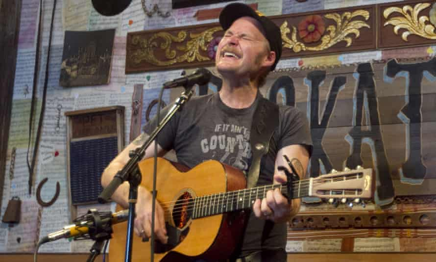 Hiss Golden Messenger on stage in Happy Valley, Oregon.
