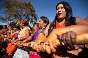 Brasilia, BrazilWomen from different ethnic groups participate in the Indigenous Women's March to demand President Jair Bolsonaro's Government improves health conditions.