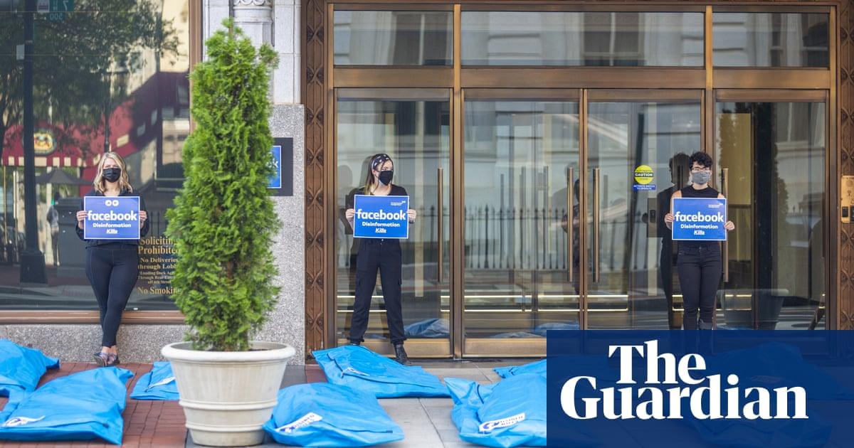 'Disinfo kills': protesters demand Facebook act to stop vaccine falsehoods