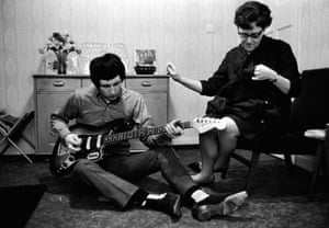 The Who's John Entwistle at home with his mother Maud (Queenie), London, 1966