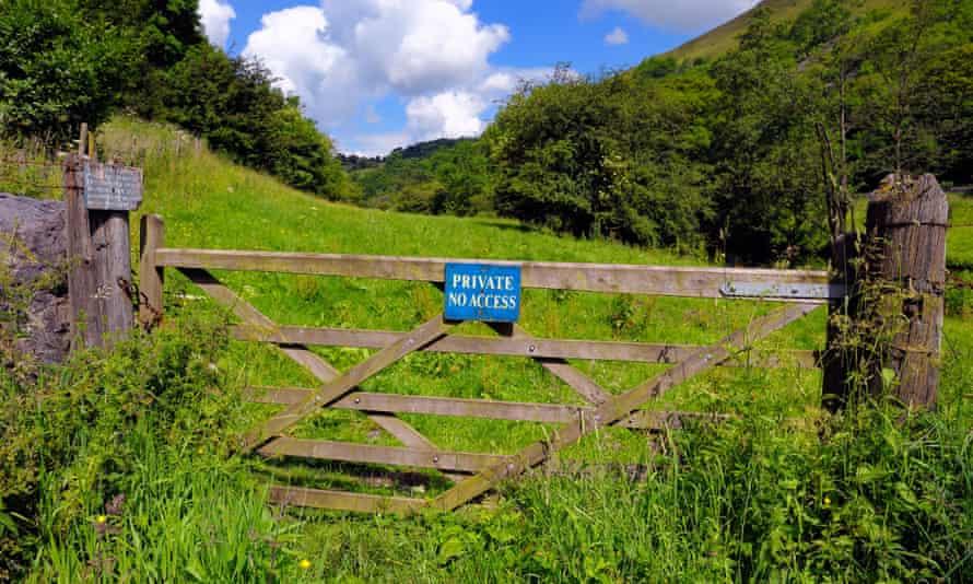 Private no access to farm land, Derbyshire Peak District