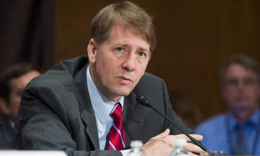 Richard Cordray testifies about unauthorized opening of accounts by Wells Fargo during a Senate hearing.
