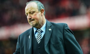 Rafael Benitez feels the pain of defeat