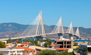 The Rio-Antirrio suspension bridge.