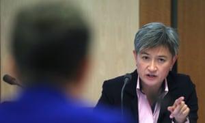 Senator Penny Wong questions Finance Department officials