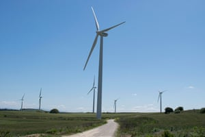 Wind turbines near Jerez de la Frontera, in Cádiz.