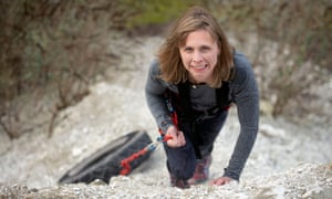 Wendy Searle in training near her home in Salisbury for her solo expedition to the south pole.