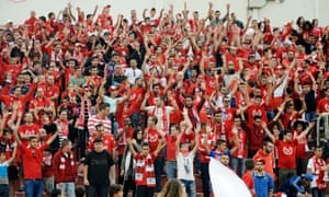 Hapoel Beer Sheva's supporters. 'If we failed, having been so close, we would have been the laughing stock of the country'.