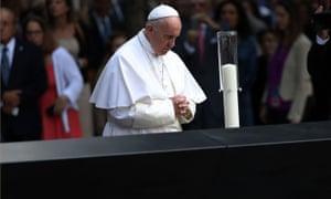 pope francis 911 memorial