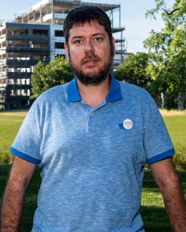 Josh Borden, a Google contractor, in Pittsburgh.