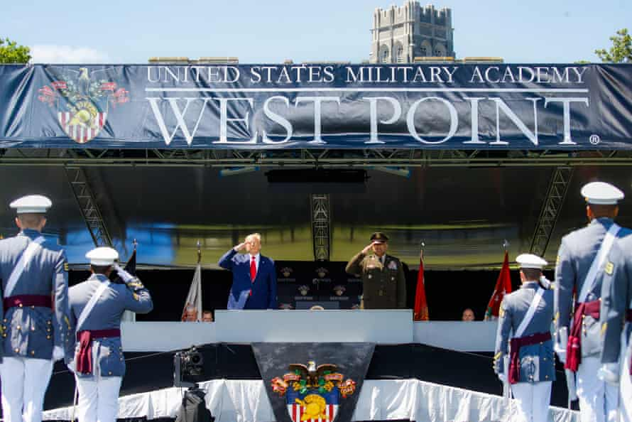 Trump at West Point earlier this month.