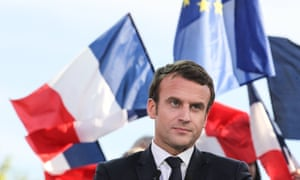 Presidential candidate Emmanuel Macron on the last day of campaigning