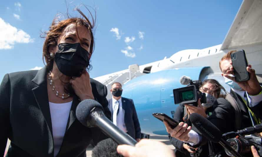Vice President Kamala Harris speaks about travel restrictions for India before boarding Air Force Two. 'We have a longstanding, decades-old relationship with India … around public health issues.'