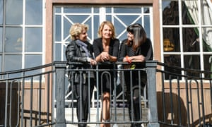 Sandi Toksvig, Sophie Walker, Catherine Mayer at the Women's Equality Party policy launch on 20 October.