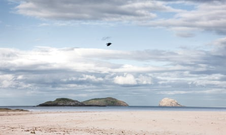 Looking out over the Firth of Forth from Yellowcraig beach near North Berwick, east of Edinburgh