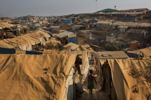 the huge refugee camp at Kutupalong in Bangladesh