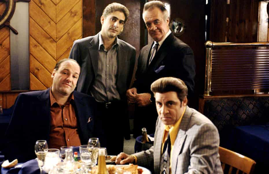 'It could be like The Simpsons' … from left, James Gandolfini, Michael Imperioli, Tony Sirico and Steven Van Zandt in The Sopranos.