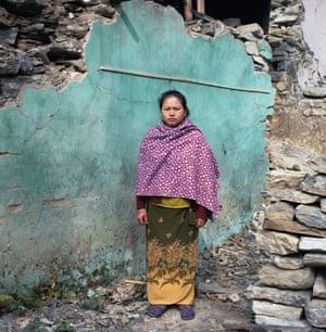 Laxmi Gurung, a 30-year-old owner of a small hotel from Baluwa, Gorkha