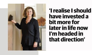 Portrait of Debby Clarke with quote: 'I realise I should have invested a bit more for later in life now I'm headed in that direction'