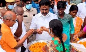 Sweets are distributed
