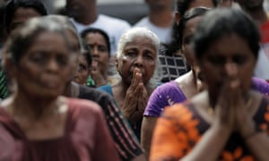 Sri Lankans marked Sunday's bomb attacks with three minutes of national silence on Tuesday.