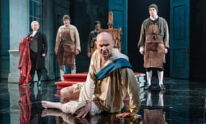 Mark Gatiss, centre, in The Madness of George III at Nottingham Playhouse.