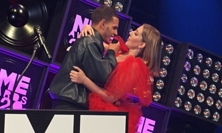 'The joke turned sour': Slowthai with Katherine Ryan at the NME awards in February.