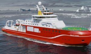 An artist's impressions of the The NERC polar research ship