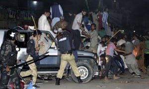 Police use force to disperse supporters of the former prime minister of Pakistan, Nawaz Sharif, who was arrested in Lahore on Friday