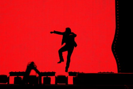 Bono of U2 performs at Suncorp Stadium in Brisbane on 12 November
